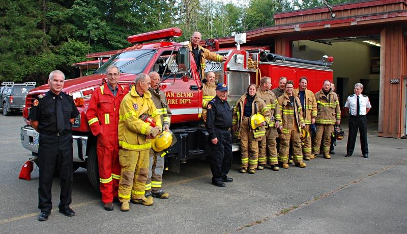 Firefighters Denman Island Fire Amp Rescue